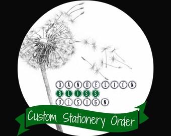 Custom Handmade Stationery Set