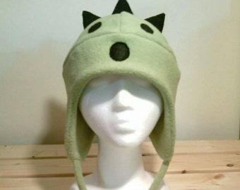 Final Fantasy - Cactuar Fleece Hat - Cactuar Hat - Aviator Hat - Earflap Hat - Cosplay Hat - Fleece Hat - Convention Hat - Anime hat - Manga