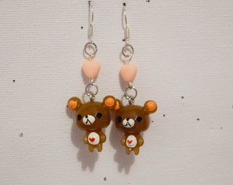 """Pooh"" small earring Pearl Heart"