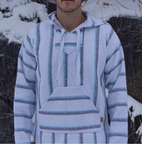 Hippie Baja Hoodie Drug Rug Pullover Sweatshirt By
