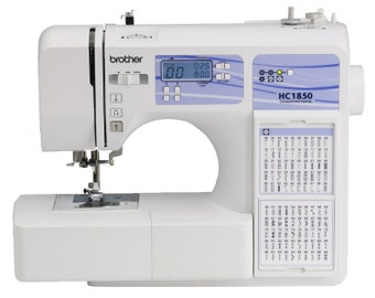 Brother HC1850 Computerized Sewing and Quilting Machine with 130 Built-in Stitches, 9 Presser Feet, Sewing Font, Wide Table
