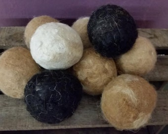 100% Alpaca wool felted Dryer Balls-Dryer Sheet alternative-Cloth Diapers-Save Energy-fabric softener replacement