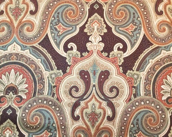 Mill Creek Zepel in Brown Paisley Floral Fabric