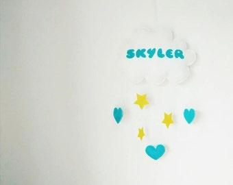 Love Cloud Mobile + Stars - Made to Order | Nursery Decor | Baby | Kids | It's Raining Love!