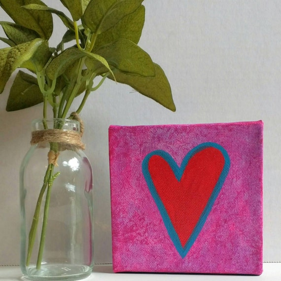 Painting As Wedding Gift : Heart PaintingWedding GiftBridesmaid Gift -Romantic Gifts ...