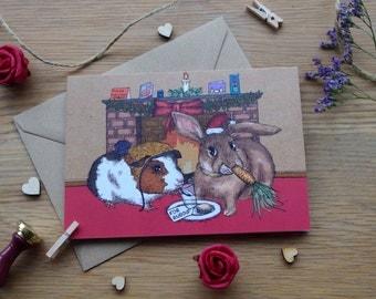 Festive Rabbit and Guinea Pig
