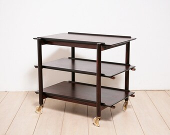 Rosewood Trolley / Bar Cart by Poul Hundevad