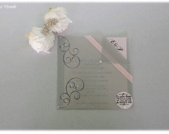 """Share marriage """" with transparency """" pale gray and pink theme"""