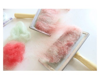 2pcs Mini Hand Cards Carders for Wool Needle Felting - F018