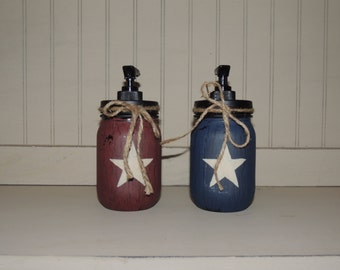 Americana mason jar soap dispenser