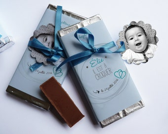 20 baptism announcements mini chocolate Tablet