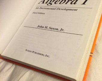 Excellent Saxon Algebra 1 3rd Edition Textbook- Best Comprehensive Mathematics Textbook!