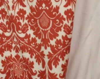 Minky Rust and White Fleur blanket.  60x72