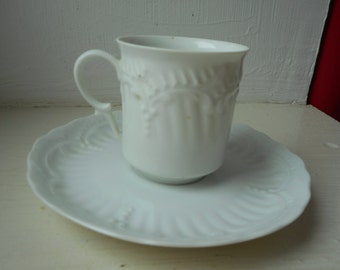 vintage Limoges porcelain decorative demitasse coffee cup & saucer