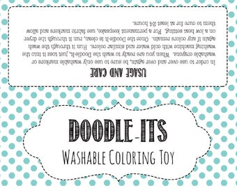 Doodle Its Printable Instructional Product Bag Toppers