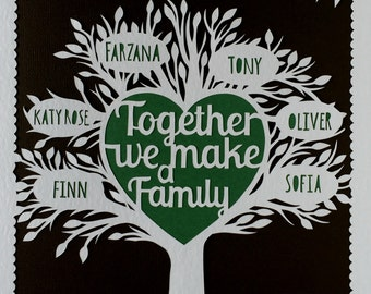 Family Tree Paper-Cut