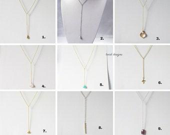lariat necklace, y necklace, bridesmaid necklace, gifts for bridesmaids, bridesmaid jewelry, bridesmaid gift, bridesmaid gift ideas