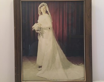 Bride  Picture ~ Bride in Bridal Gown ~ Shabby Chic ~ Hollywood Regency ~ Wedding ~ Vintage