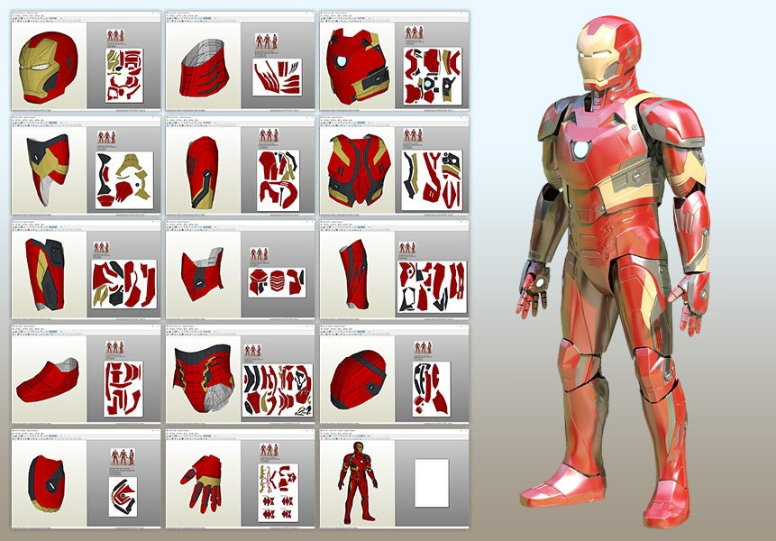 Mark 46 pepakura pattern diy for Iron man suit template