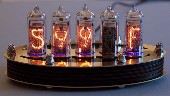 5-tube IN14 Nixie clock kit custom order by Lasermad steampunk buy now online