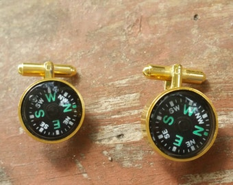 Gold filled, Compass, Cufflinks