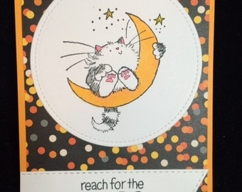 Reach For The Stars Cat Encouragement Card