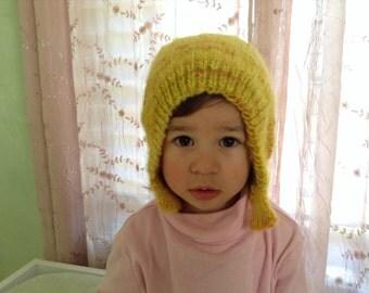 Knit wool children's hat