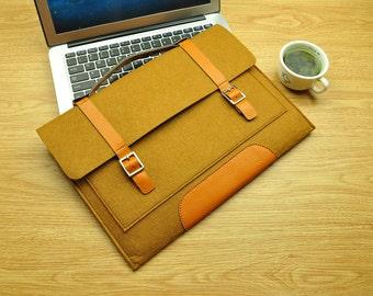Felt Macbook 12inch Case , 12 inch Laptop Sleeve , Macbook 12 Sleeve ,Macbook Retina 12,11inch Macbook Sleeve , Macbook Air 11 Case-TFL008