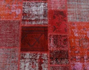 patchwork rug,4'13''x6'10''-126x186cm