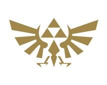 Zelda Triforce Vinyl Decal/  Laptop Decals / Car Sticker