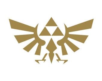 Zelda Triforce Decal -  Laptop Decals / Car Sticker