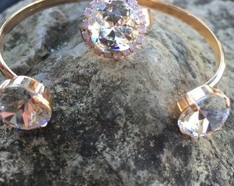 Swarovski bangle and ring