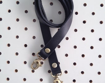 Black Leather Bag Strap