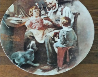 """1977 Norman Rockwell """"The Toymaker"""" Limited Edition Plate By Knowles"""