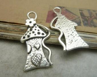 10pcs 20x43mm House Pendant Handmade Jewelry Supplies A