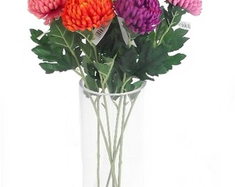 3 x Single Stem 51cm Ball Chrysanthemum