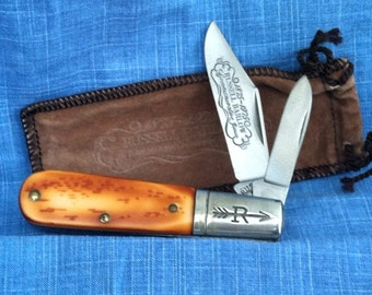 Russell Made in USA  Commemorative Barlow Jack Knife MINT!