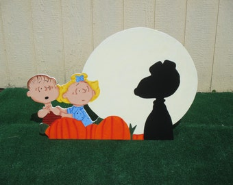 Linus and Sally Great Pumpkin Sign