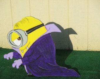 Halloween Vampire Minion Yard Art