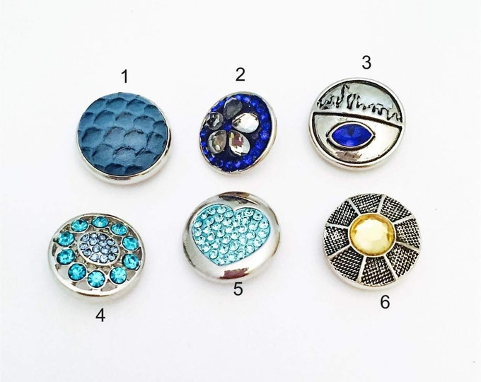 Snap Jewelry- Snap Buttons- Snap Charms- 18mm Snap Buttons To Fit Snap Necklaces Snap Bracelets and Snap Earrings- Fit Ginger Snap Jewelry