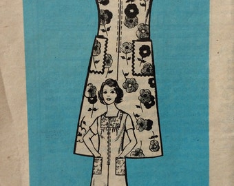 CLEARANCE!!  Mail order 9005 misses A-line dress half size 18 1/2 size 18.5 bust 41 vintage 1960's sewing pattern. Uncut  Factory folds
