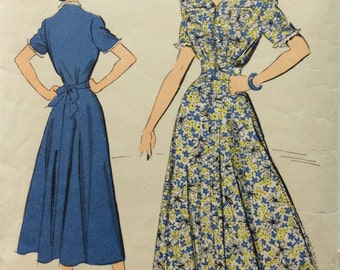 Advance 5164 vintage 1940's misses dress sewing pattern size 18 bust 36