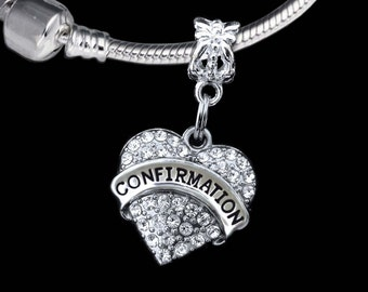 Confirmation charm   ( Charm Only) Fits European style bracelet   Confirmation Special gift