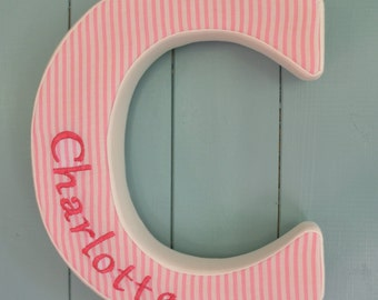 Personalised Fabric Wall Letters 25cm