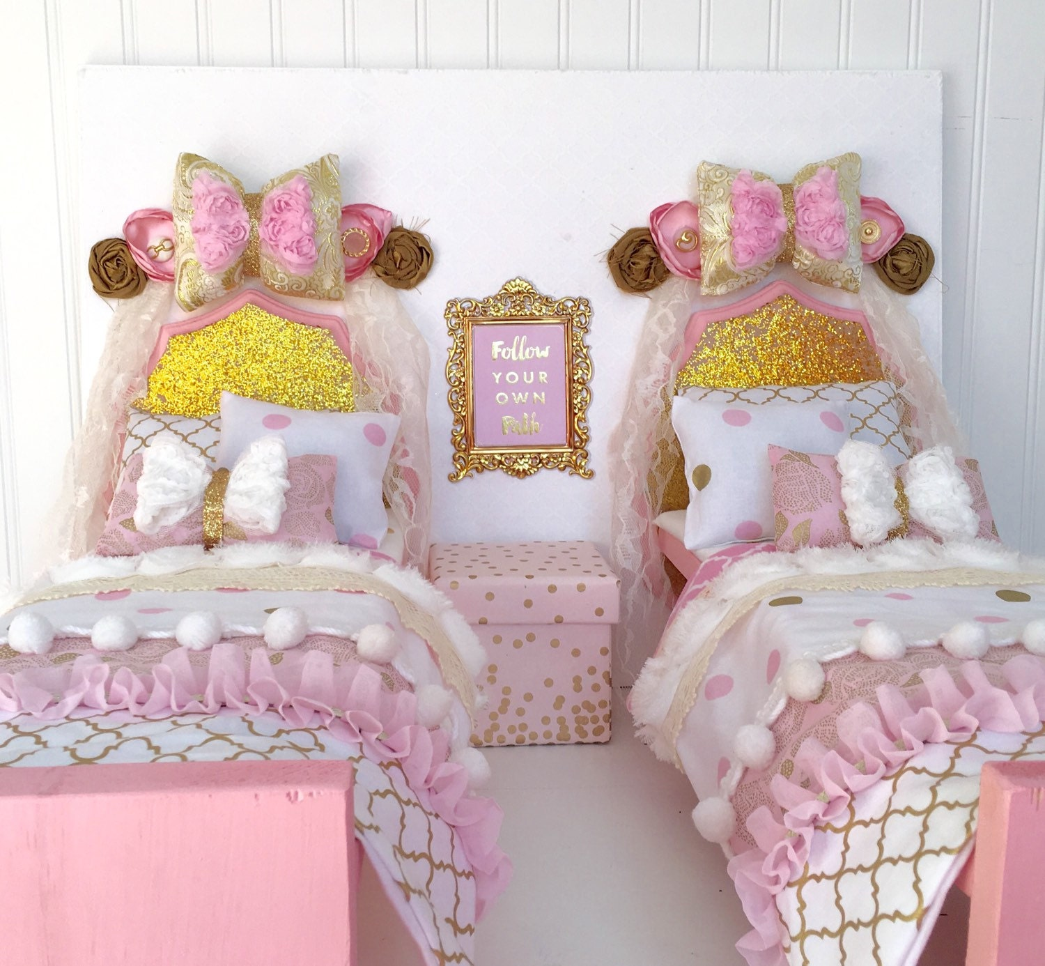 two beds for 18 inch doll bedroom set 18 inch doll bed 18