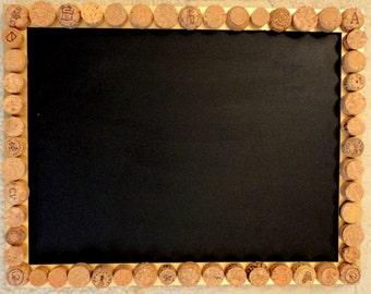 Gold Framed Corkboard & Chalkboard Noticeboard / Messageboard
