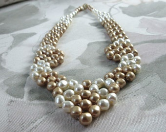 Glass Pearl Statement Necklace