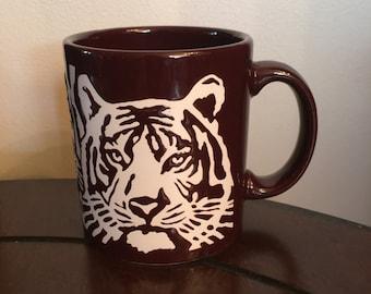 Vintage tiger mug  Waechtersbach West Germany