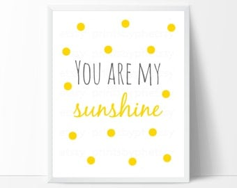You Are My Sunshine Wall Decor you are my sunshine wall art nursery art print wall decor