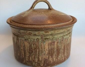 Buck Pottery Vintage Covered Casserole Dish Tim Buck Texas